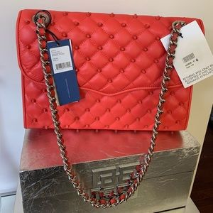 Rebecca Minkoff Quilted Studded Affair - Coral
